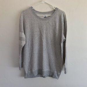 Old Navy Gray Varsity Style Lightweight Sweatshirt